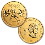 2008-2010 3-Coin Vancouver Olympics Canadian Gold Maple Leaf Set